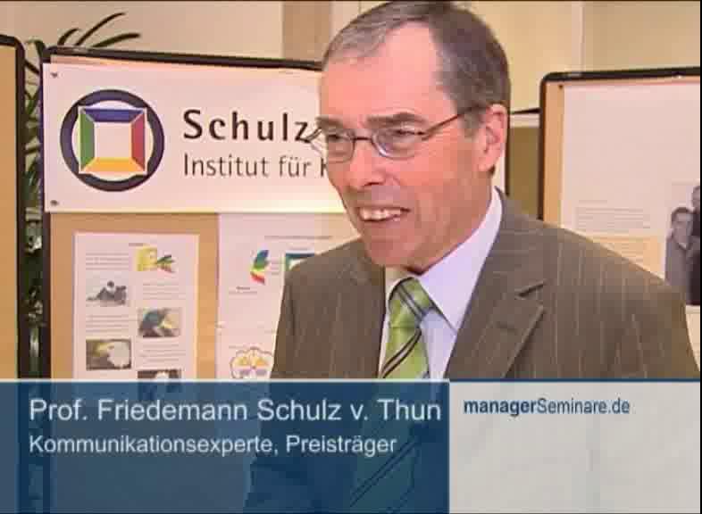 Link Petersberger Trainertage 2009: Friedemann Schulz von Thun geehrt
