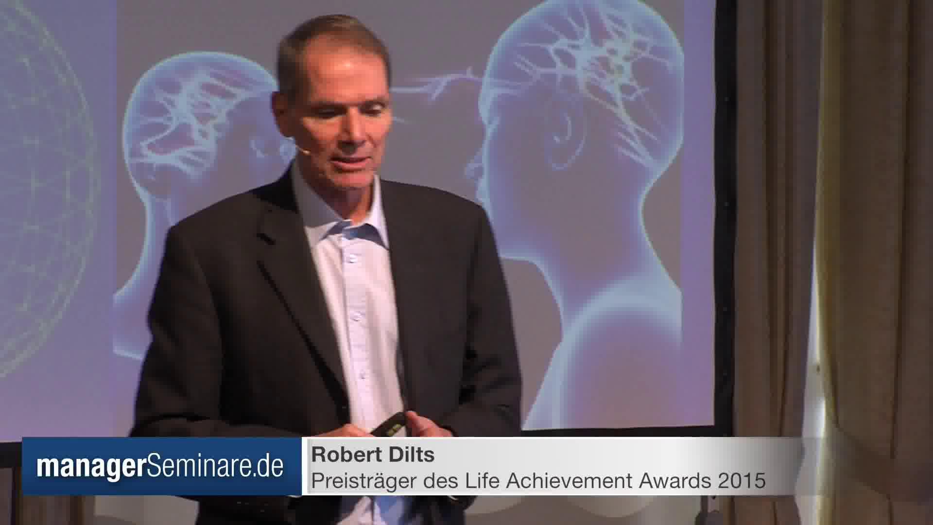 Link Ausschnitt aus der Keynote des LAA-Preisträgers Robert Dilts