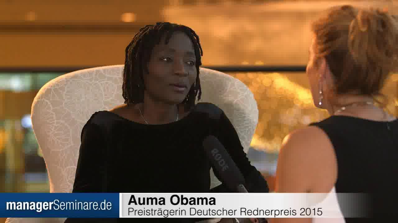 Link Auma Obama: 'Ich rede gern über meine Arbeit'