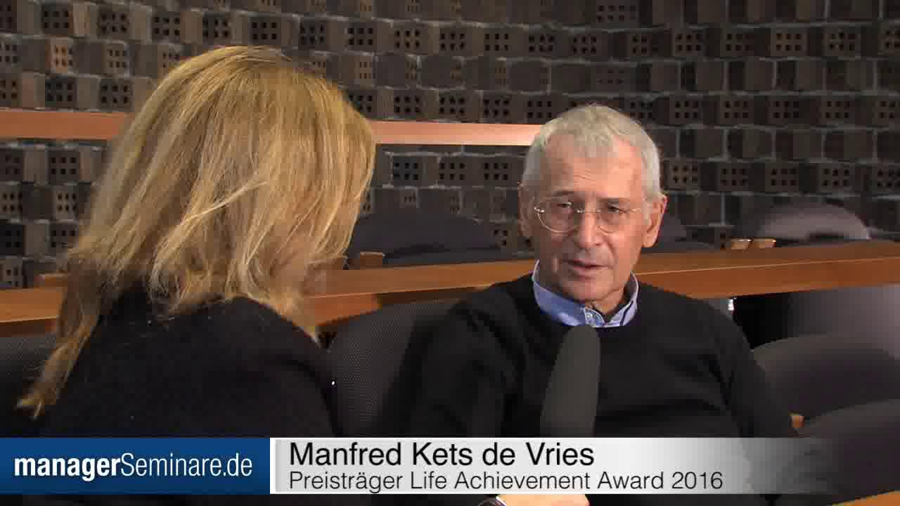 Link Kets de Vries: 'All my life I have been trying to create better places to work'