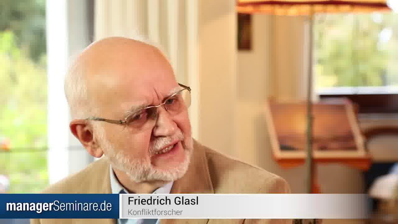 Link Friedrich Glasl über Konflike, ihre Entstehung und ihre Bearbeitung