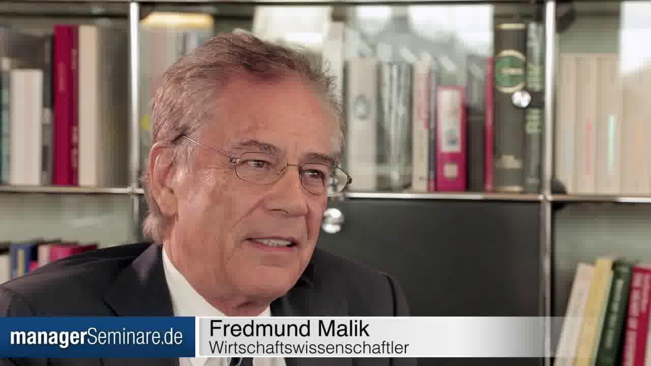Link Fredmund Malik über das Management von Organisationen