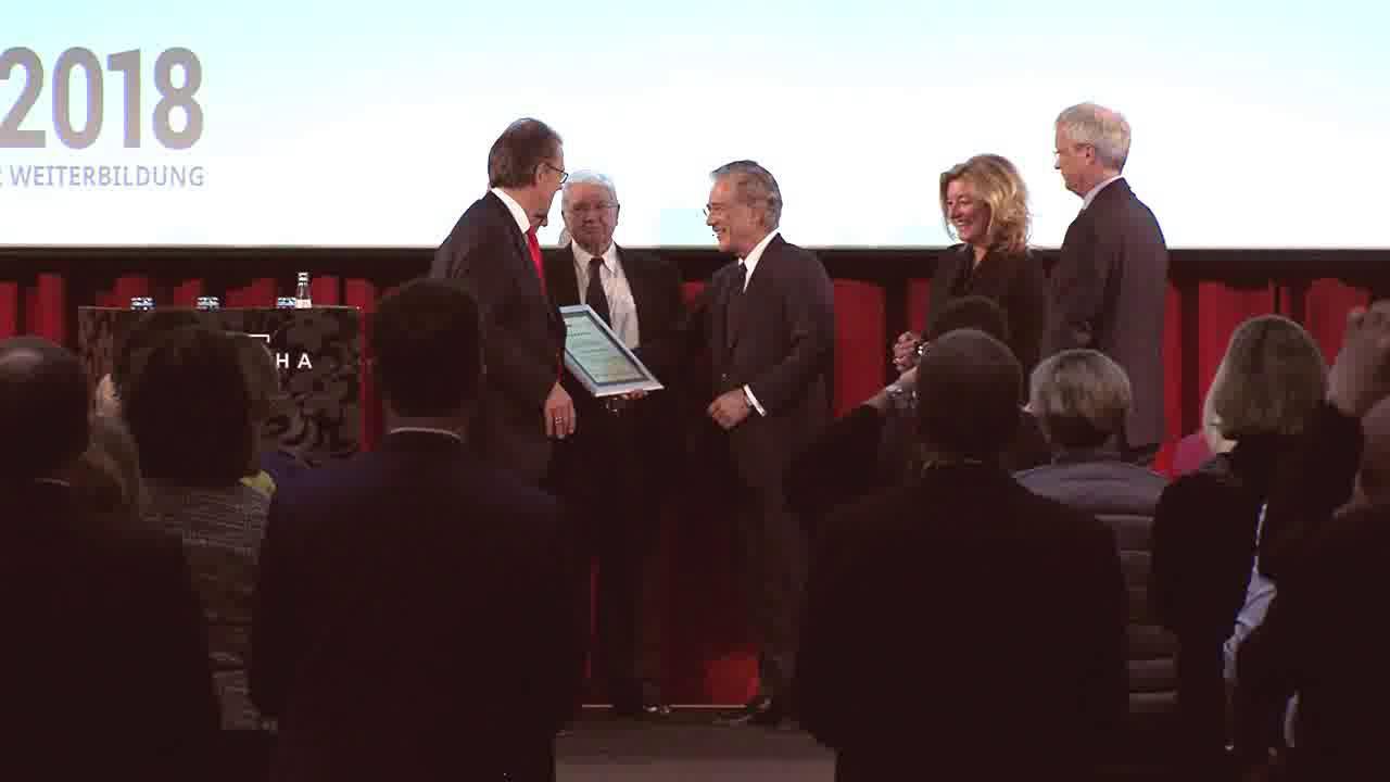 Link Fredmund Malik mit Life Achievement Award ausgezeichnet