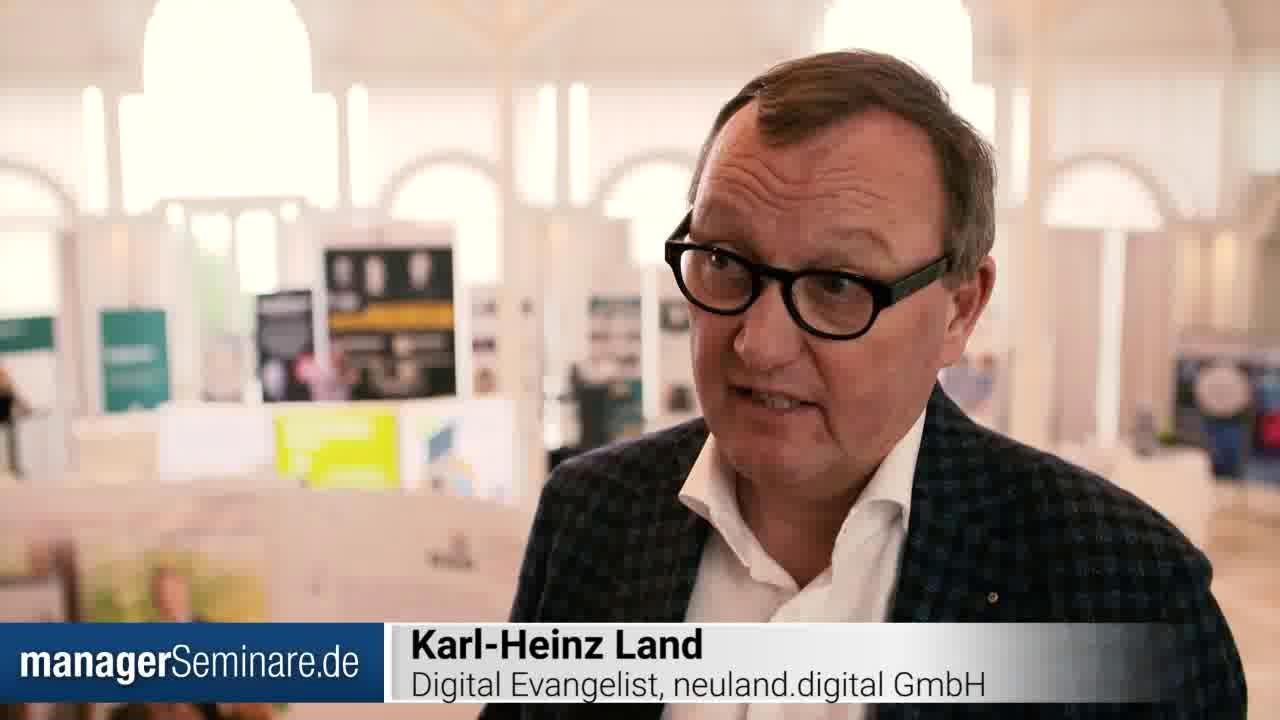 Link Karl-Heinz Land über die Notwendigkeit des Mindset-Change #PTT2019