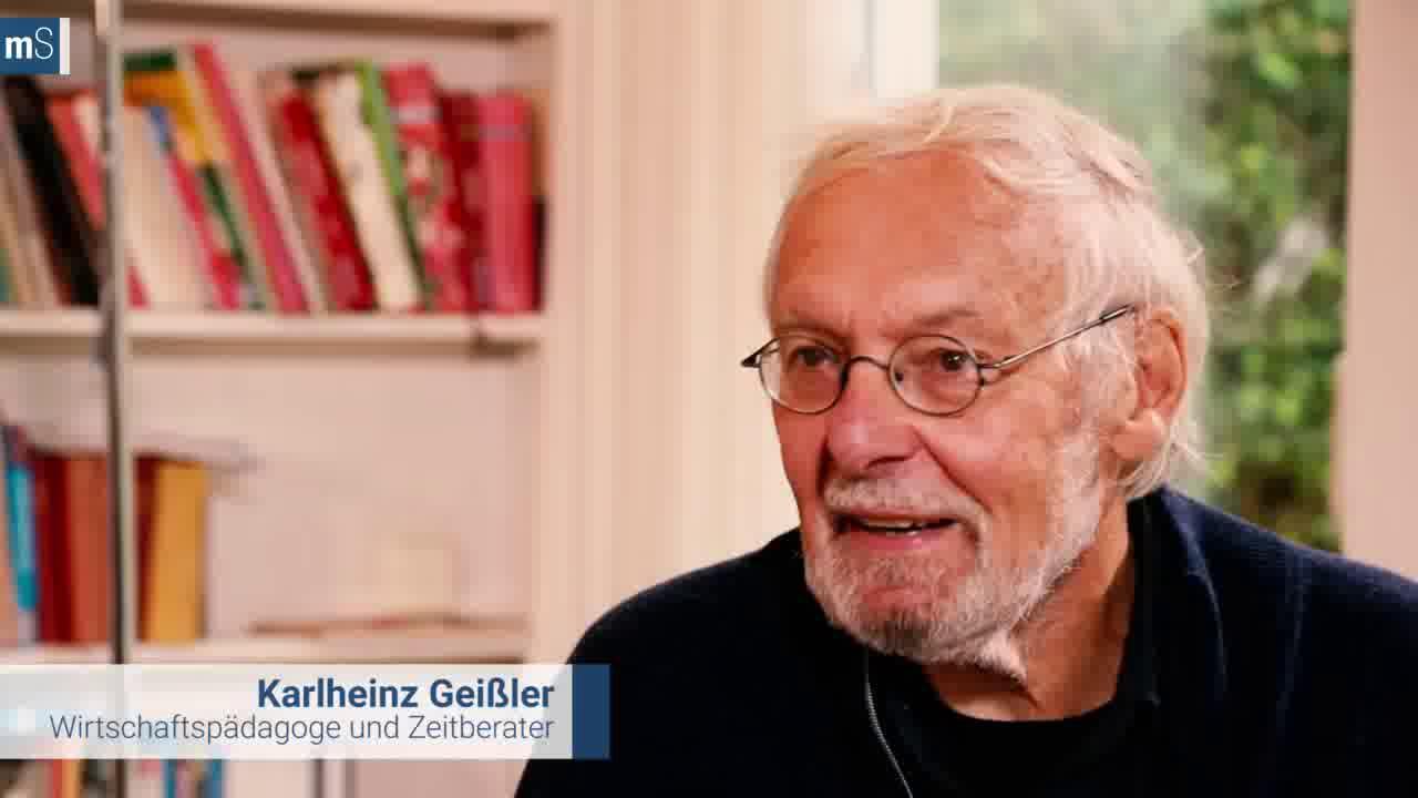 Karlheinz Geißler über den Umgang mit Zeit