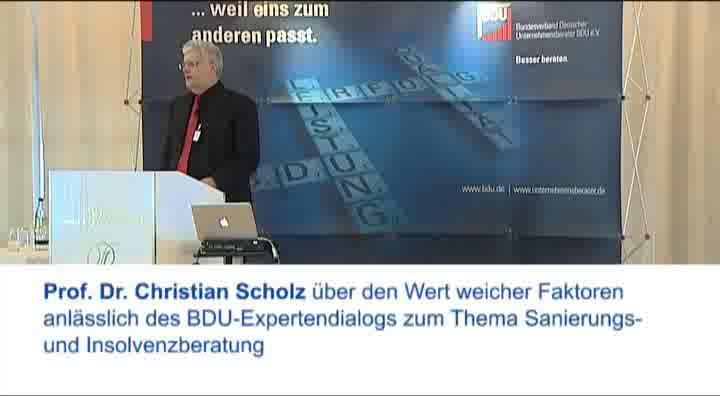Link Prof. Scholz über den Wert weicher Faktoren